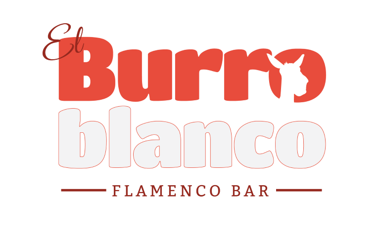 Logotipo del tablao el Burro Blanco Flamenco Bar